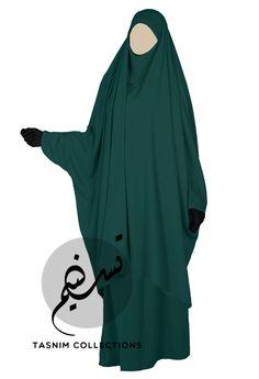 """2 pcs jilbab """"Asiya"""" with skirt - jade - Tasnimcollections"""