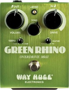 The legendary Way Huge Green Rhino has returned! The Mk II has all the gorgeous classic overdrive that you crave but it has evolved to include cool new features that make it even more rhinoceriffic. I