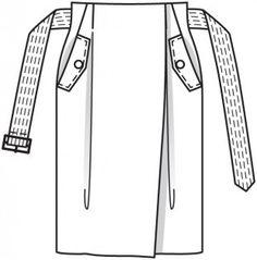 Burda Style Moda - Think Pink Flat Drawings, Flat Sketches, Technical Drawings, Safari, Fashion Flats, Fashion Outfits, Croquis Fashion, Drawing Fashion, Burda Patterns