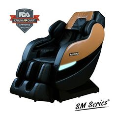 TOP PERFORMANCE KAHUNA SUPERIOR MASSAGE CHAIR WITH NEW SLTRACK WITH 6 ROLLERS  SM7300 BROWNBLACK BrownBlack -- Be sure to check out this awesome product.