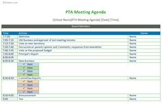 Meeting Agenda Schedule Template To Improve Your Meeting  Agenda