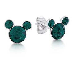 Disney Mickey May Birthstone Stud Earrings ($58) ❤ liked on Polyvore featuring jewelry, earrings, disney jewelry, birthstone jewelry, mickey mouse earrings, earring jewelry and mickey mouse birthstone earrings