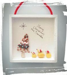 Christmas Pebble Art, Christmas Arts And Crafts, Christmas Rock, Christmas Stuff, Holiday Crafts, Christmas Decorations, Xmas, Christmas Ornaments, Holiday Decor