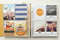Project Life 2013 | One Little Bird  ... multi-page Disneyland visit in a Project Life album