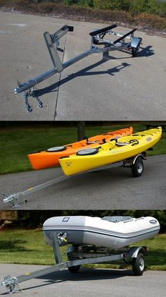 Small Boat Trailer! CE Smith Trailer for small boats and personal watercraft up to 12' long - A super handy trailer when it comes to transportation ideas for weekends at the lake or river!