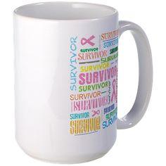 Survivor Colorful Breast Cancer Mug