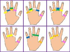 The site is not in English but you can easily find these great printable cards for working on fine motor skills with use of terry hair ties.Afbeeldingsresultaat voor Ring L DingScribd is the world's largest social reading and publishing site. Montessori Activities, Indoor Activities, Educational Activities, Toddler Activities, Preschool Education, Preschool Activities, Motor Skills Activities, Practical Life, Fine Motor
