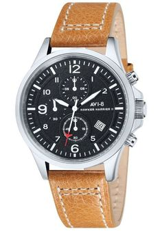 AVI-8 Hawker Harrier II Chrono Steel Black Tan