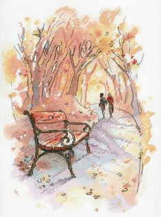 New Unopened Modern Cross Stitch Embroidery Kit Warm Fall by Russian Manufacture Autumn Atmosphere, Gift Idea, October in the city Mini Cross Stitch, Cross Stitch Heart, Cross Stitch Kits, Modern Embroidery, Embroidery Kits, Cross Stitch Embroidery, Modern Cross Stitch Patterns, Cross Stitching, Crochet