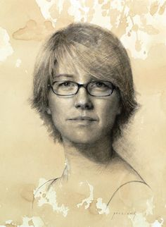 Cindy. Charcoal Portrait Drawings Captured by the Artist . By Cindy Procious.