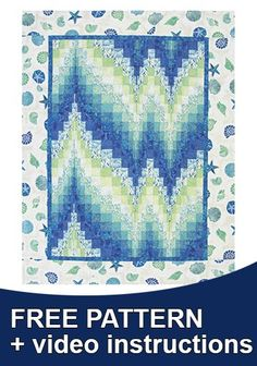 A great free pattern and detailed instructional video walk you through every step of this amazing quilt! The Bargello quilts are visually stunning and impressive, but are surprisingly easier to make than you might think! The possibilities are endless with thousands of fabrics to choose from at the Fabric Shack at http://www.fabricshack.com/cgi-bin/Store/store.cgi