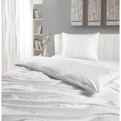 Weiße Bettwäsche mit Blumenmuster: verbreitet nostalgisches Flair