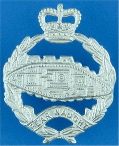 Royal Tank Regiment Officers' metal cap badge for sale Queen Elizabeth Crown, Queen Crown, Military Cap, Silver Plate, Empire, Army, Colours, Commonwealth, Badges