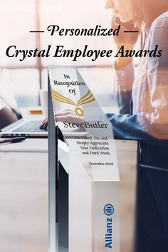 At Crystal Central, we provide you with the opportunity to create custom employee recognition plaques made from highly durable optical crystal. Whether you wish to give an employee service award or a retirement plaque, you can count on our precisely engraved, personalized employee recognition award plaques. Employee Awards, Corporate Awards, Recognition Awards, Employee Recognition, Award Plaques, Service Awards, Retirement, Opportunity, Count