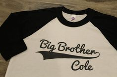 BIG BROTHER Kid's personalized NAME raglan by myeverydaydesign