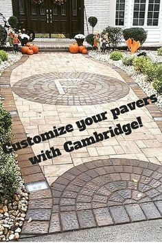 Customize your pavers with Cambridge! Cambridge Pavingstones can be customized to any shape to create beautiful designs in your entryway.