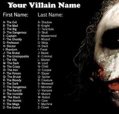 My villain name is Captain Robot. What kind of villain is that? That belongs on a PBS kids show!<<<the evil criminal<<<the dark wizard Villain Names, The Villain, Memes Arte, Dark Wizard, Evil Wizard, Dark Creatures, Name Games, Funny Names, Funny Nicknames