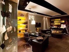 Muriel & Gabriel - Arquitetura e Design de Interiores: Escritório cinza com estilo