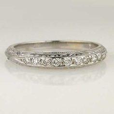 Replica Art Deco Wedding Band $1,375