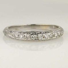 Replica Art Deco Wedding Band $1,375