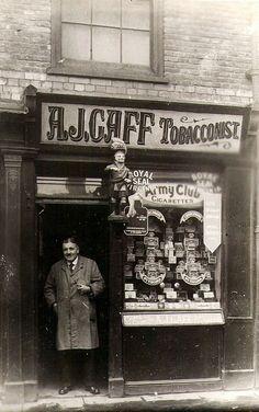 old shop front tobacconist shop