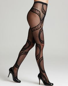 Wolford Snake Tights Women – Bloomingdale's Lady Stockings, Stockings Heels, Stockings Lingerie, Nylon Stockings, Nylons, Pantyhose Outfits, Pantyhose Heels, Fishnet Leggings, Lace Tights