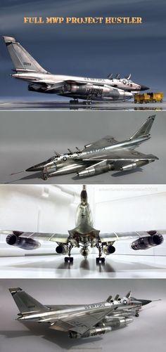 """Convair B-58 """"Hustler"""" Full MWP (Metal Work Panels) Studio - Revell/Monogram kit 1:48 scale model based (2015)"""