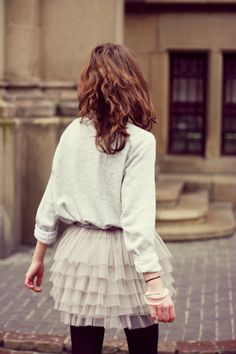 I like the idea of this outfit and love tulle skirts, but I am unsure about all the layers in the skirt.