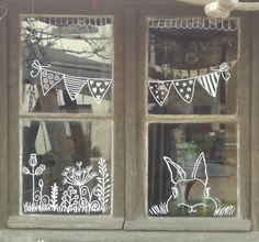 homedecor window Fenster homedecor window Fenster The Importance Of Windows & Doors Chalk Pens, Chalk Markers, Chalk Art, Window Markers, Easter Drawings, Easter Paintings, Christmas Window Decorations, Window Art, Window Ideas