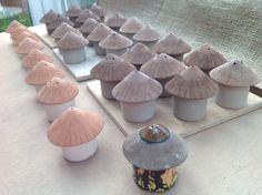 African Salt & Pepper Huts Handmade Pottery, Salt, African, Stuffed Peppers, Handmade Ceramic, Stuffed Pepper, Salts, Stuffed Sweet Peppers