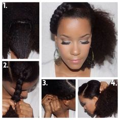 side-braid: Natural Hair Flair: Styling with accent braids