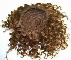 Bibi Butterscotch Dolls: How to crochet a wig with weft mohair