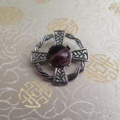 Vintage Celtic Cross Brooch  Celtic Cross by BlitheSpiritVintage