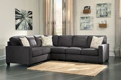 Charcoal Alenya 3-Piece Sectional. $1349, not on sale. Good color. Looks like a nice size if we aren't set on a chaise.