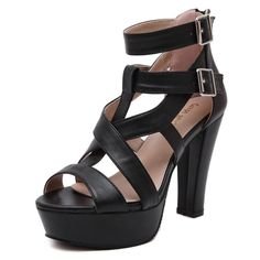 28.49$  Watch here - http://aidxz.worlditems.win/all/product.php?id=32667652897 - 10CM 2016 summer high heel shoes in Europe and America heavy-bottomed Roman waterproof woman high-heeled sandals, Free Shipping