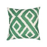 Lillian Throw Pillow in Emerald | Vielle and Frances