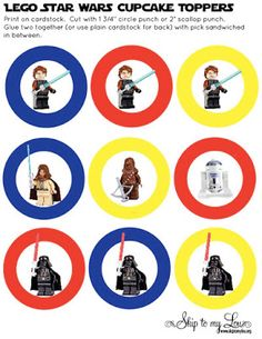 Lego Starwars Free Printable Cupcake Toppers - Best Gift Ideas Blog
