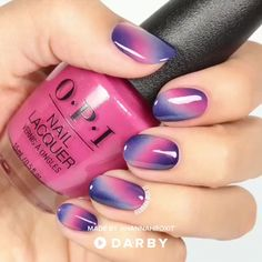 Pink and Purple Ombre Manicure Tutorial Nails When it comes to finding the right nail art for a man's manicure, Ombre Manicure is a nice option. It is a fresh look that leaves the nails with an ey. Nail Art Designs, Accent Nail Designs, Colorful Nail Designs, Acrylic Nail Designs, Acrylic Nails, Pink Gel, Purple Nail Art, Green Nails, Pink Nails