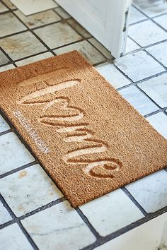 Shop Home Doormat . View our entire collection of handmade furniture and accessories now. Order simple and safe. Home Again, Day Work, Powder Pink, Handmade Furniture, Floor Mats, Make You Feel, Make It Yourself, Quilts, Accessories
