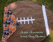 Football baby blanket - Love this, but I would definitely make the team side A instead of those t-sips! :)