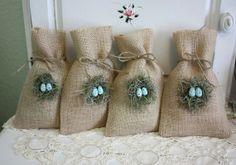 Nest burlap bags