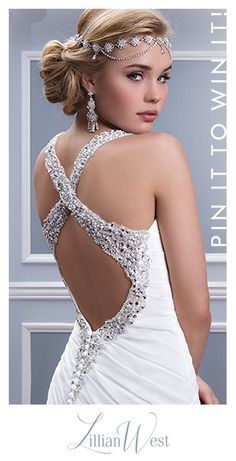Make his jaw drop as you walk down the aisle in a Lillian West wedding dress. Enter for a chance to win a sultry wedding dress by pinning this image.