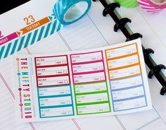 Finance - Bill Due Stickers - 18 Planner Stickers - 1 Sheet | Stickers for your daily planner calendar agenda (3.50 USD) by TheNiftyStudio