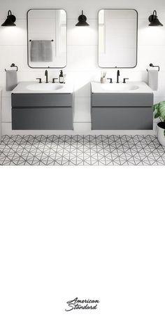 Home Room Design, Dream Home Design, Bathroom Interior Design, House Design, Jugendschlafzimmer Designs, Upstairs Bathrooms, Master Bathroom, Teen Bedroom Designs, Contemporary Bathroom Designs