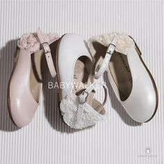Δερμάτινα Παπουτσάκια με Chiffon Λουλουδάκια Babywalker BW4503