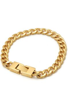 The Mr. Curb Chain Bracelet in Gold by Mister use rep code: OLIVE for 20% off!