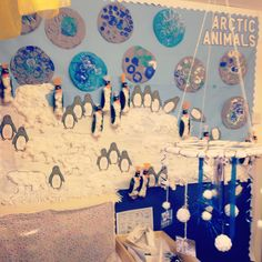 Arctic animals/ winter display, smallworld and investigation area