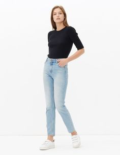 Parisien, Blue Vintage - Denim, | sandro-paris.com