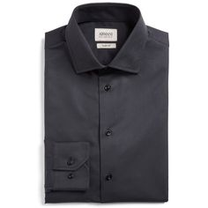 Men's Armani Collezioni Slim Fit Textured Dress Shirt ($295) ❤ liked on Polyvore featuring men's fashion, men's clothing, men's shirts, men's dress shirts, men, black, mens slim fit dress shirts, mens tailored shirts, mens tailored dress shirts and mens dress shirts