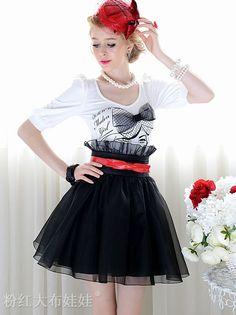Latest Womens Empire Waist Solid Color Mid-length Skirt